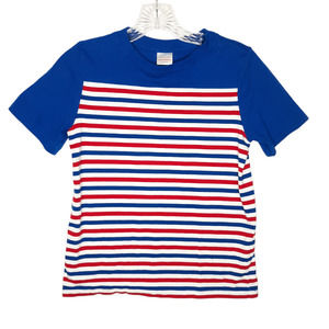 Hanna Andersson Boys Shirt 8 July Stripe Red Blue
